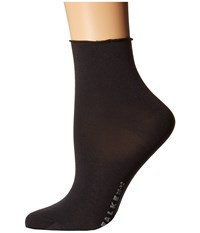 Falke Cotton Touch Short Black Women's Crew Cut Socks Shoes