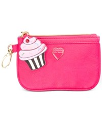 Betsey Johnson Xox Trolls Zip Coin Pouch Only At Macy's Fuschia