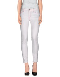 Pt0w Denim Denim Trousers Women White