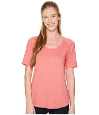 Columbia Wander More Short Sleeve Tee Blush Pink Heather T Shirt