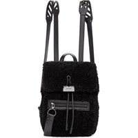 Off White Black Sherpa Monotone Backpack