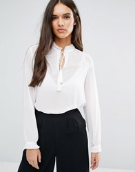 Sisley Blouse With Tie Neck Cream