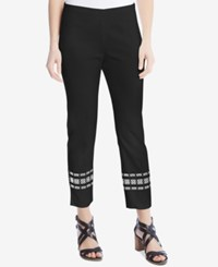 Karen Kane Embroidered Cropped Pants A Macy's Exclusive Style Black