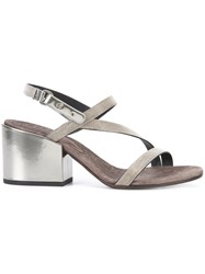 Brunello Cucinelli City Sandals Metallic