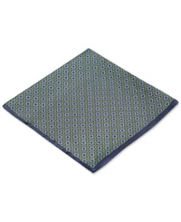 Ryan Seacrest Distinction Pacific Geo Pocket Square Only At Macy's Navy And Green