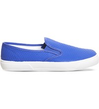 Office Kicker Snake Embossed Skate Shoes Bright Blue Snake