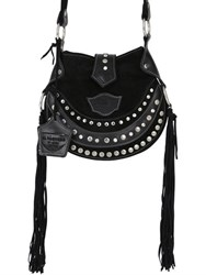El Vaquero Texi Studded Fringed Suede Shoulder Bag