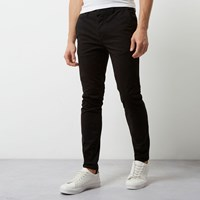 River Island Mens Black Super Skinny Casual Chino Trousers