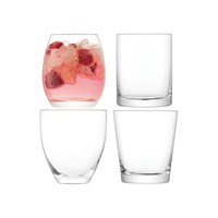 Lsa International Lulu Clear Tumbler Set Of 4