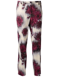 N.21 Flower Print Trousers Pink And Purple