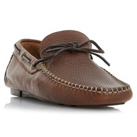 Bertie Dune Baraboo Leather Driving Loafers Tan