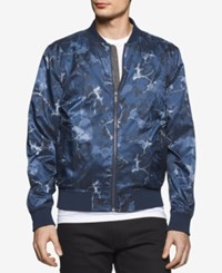Calvin Klein Jeans Men's Surplus Floral Abstract Print Bomber Jacket Classic Navy