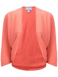 Pure Collection Oversized Gassato Cashmere Shrug Spring Coral