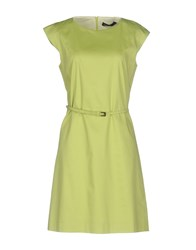 Fabrizio Lenzi Short Dresses Acid Green