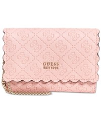 Guess Rayna Double Date Signature Wallet Rose Gold