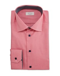 Eton Contemporary Fit Micro Gingham Dress Shirt Red Men's