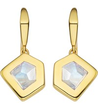 Monica Vinader Petra 18Ct Gold Plated Vermeil And Moonstone Earrings