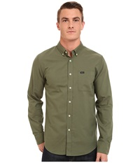 Rvca That'll Do Oxford Long Sleeve Forest Men's Long Sleeve Button Up Green