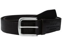 John Varvatos Laser Scored Strap Belt With Harness Buckle Chocolate Men's Belts Brown
