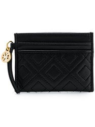 Tory Burch Quilted Card Holder Black