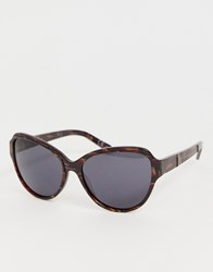 French Connection Tortoishell Oversized Sunglasses Brown