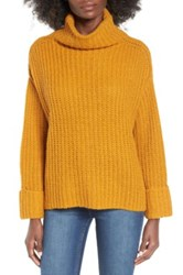 Leith Chunky Turtleneck Sweater Brown