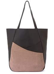 Mint Velvet Black Asymmetric Shopper Bag Black