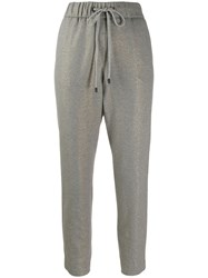 Peserico Tapered Panel Jogging Trousers Grey