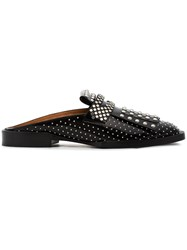 Robert Clergerie Leather Youla 25 Flats With Studs Black