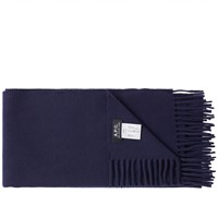 A.P.C. Large Scarf Blue