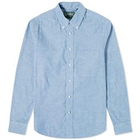 Gitman Brothers Vintage Button Down Summer Chambray Shirt Blue