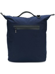 Ally Capellino Zip Pocket Backpack Blue