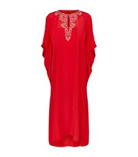 Elizabeth Hurley Beach Valencia Embellished Kaftan Female Red