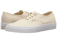 Vans Authentic Hemp Linen Turtledove True White Skate Shoes Bone