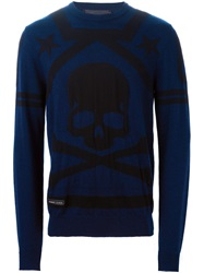 Philipp Plein 'Draft Day' Sweater Blue