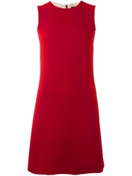 Dolce And Gabbana Classic Shift Dress Red