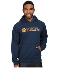 Mountain Hardwear Logo Graphic Pullover Hoodie Navy Dark Copper Men's Sweatshirt