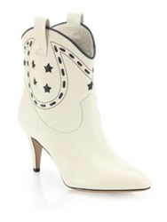 Marc Jacobs Georgia Leather Cowboy Boots Ivory