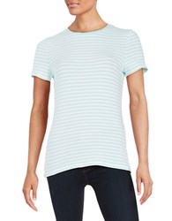 Lord And Taylor Plus Striped Crewneck Tee Aries
