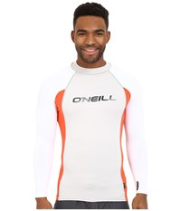 O'neill Skins L S Crew Lunar Neon Red White Men's Swimwear