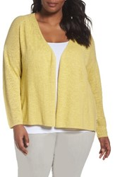 Eileen Fisher Plus Size Women's Organic Linen And Cotton Cardigan Grapefruit