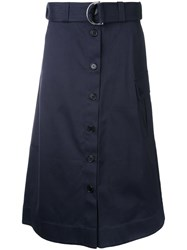 Markus Lupfer Belted Button Skirt Blue