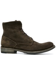 Officine Creative Ikon Boots Men Leather Suede Rubber 43.5 Brown