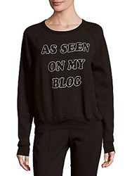 Project Social T Embroidered Long Sleeve Tee Black