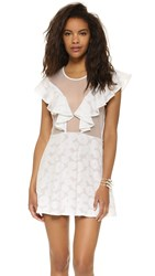 For Love And Lemons Buttercup Mini Dress White