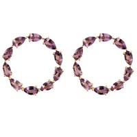 Emily Mortimer Jewellery Aqua Amethyst Circle Earrings Gold Pink Purple