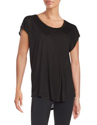Betsey Johnson Fly With Me Knit Tank Black