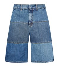 Mcq By Alexander Mcqueen Vintage Patchwork Shorts Male Blue