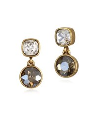 Badgley Mischka Faceted Round Drop Earrings No Color