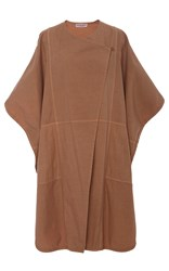 Apiece Apart Fatima Canvas Wrap Cape Tan